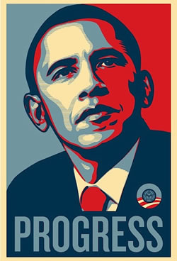 Shepard Fairey's Obama poster from OBEY